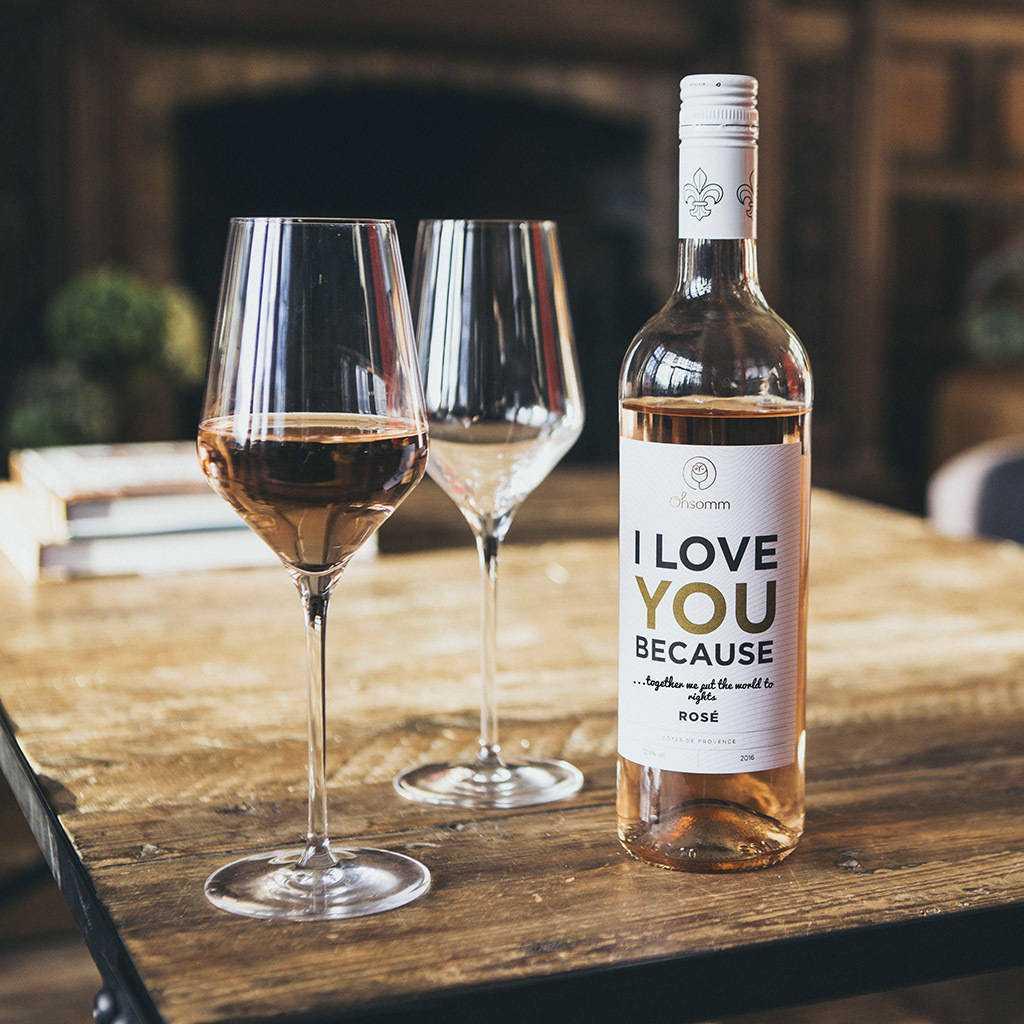 Προσωποποιημένο Μπουκάλι Κρασιού για τη Γιορτή του Αγίου Βαλεντίνου