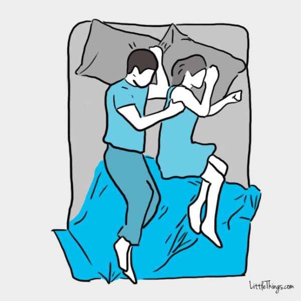 """Η στάση ύπνου """"χαλαρό κουτάλι"""""""