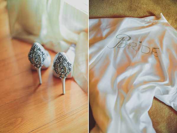 Εκθαμβωτικές νυφικές γόβες με διαμαντένιες λεπτομέρειες