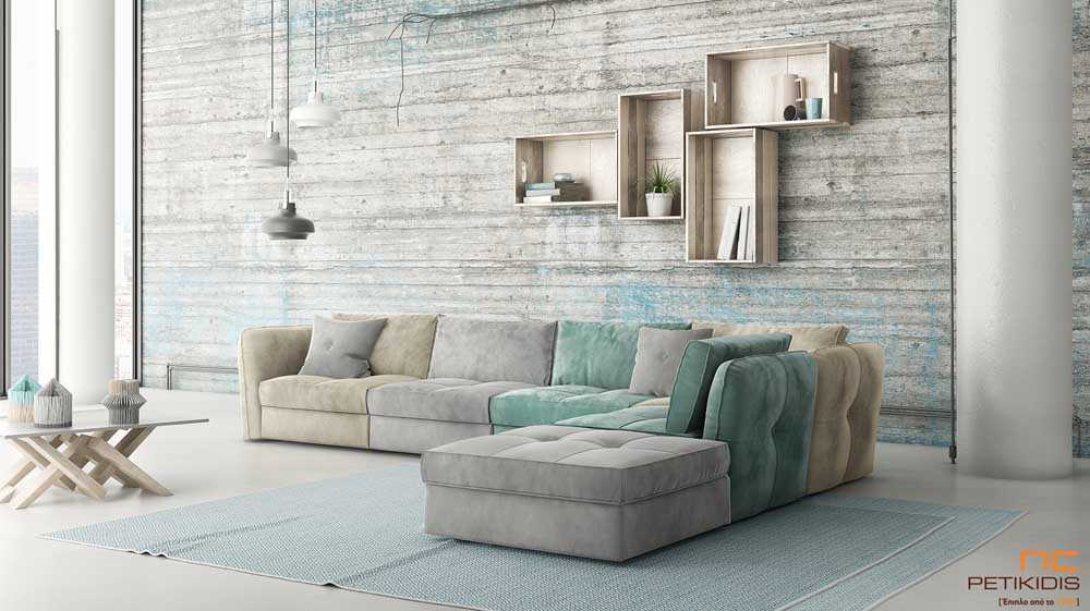 Διακόσμηση Σαλονιού - Γωνιακός Καναπές