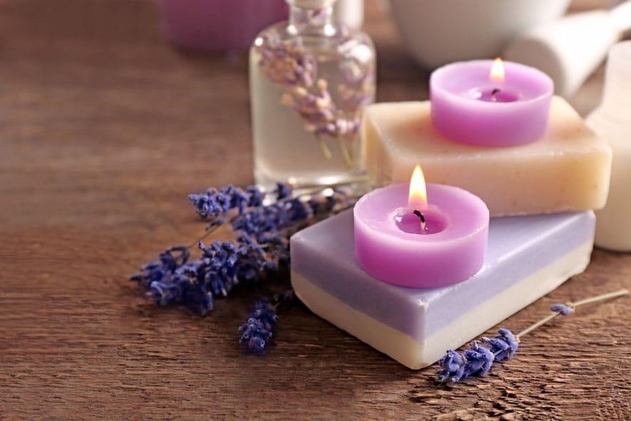 Αρωματικά Κεριά από Λεβάντα