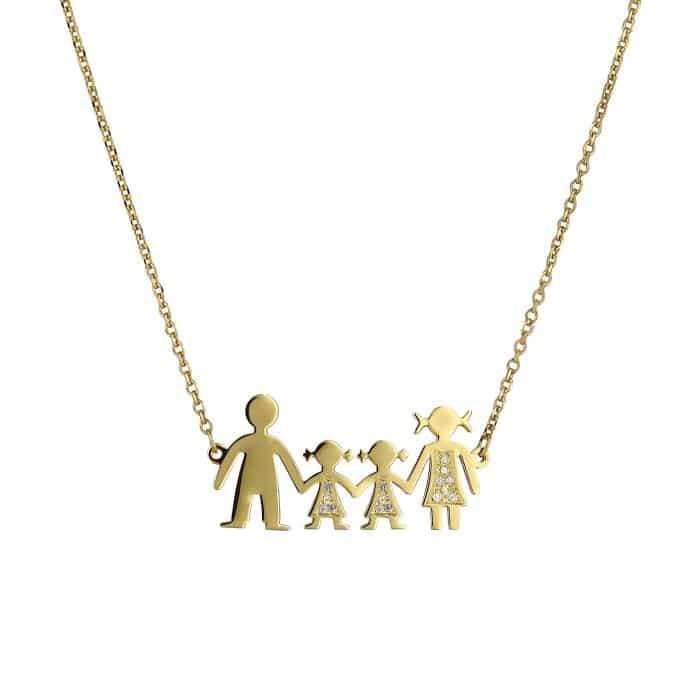 Χρυσό Κολιέ Οικογένεια
