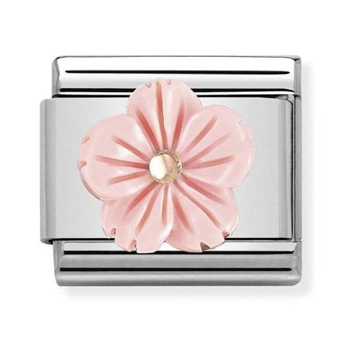 Link Nomination Flower in Pink Coral